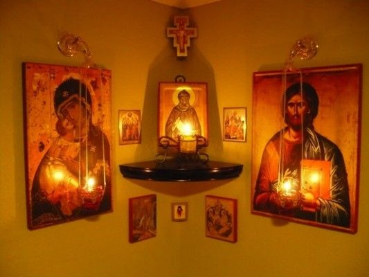 Keeping Holy Water by The Altar